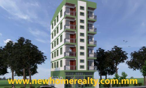 apartment for sale in Hlaing, Yangon, Myanmar. New Home Realty Real Estate Agency in Yangon, Myanmar